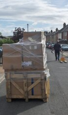 Pallet Successfully Delivered Despite Restricted Access