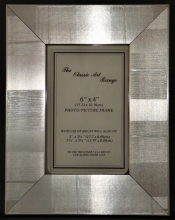 G Range - Flat Check Silver Picture Frame