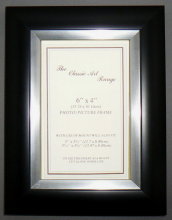 G Range - Dome Silver on Black Photo Picture Frame